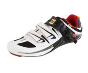 Mavic Avenge Schuhe Men white/bright red/black